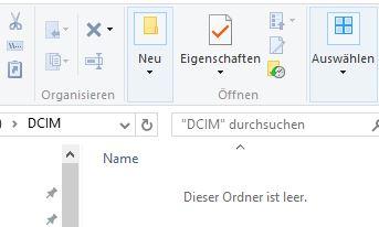 PC erkennt DCIM-Ordner mit Bilder vom iPhone nicht
