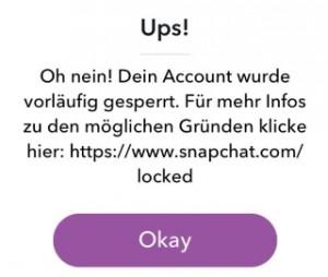 account gesperrt