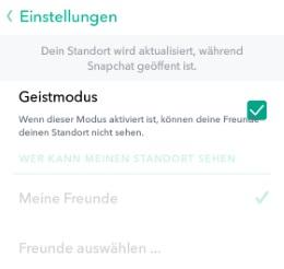 Snapchat Freunde orten deaktivieren: Snap Map ausschalten