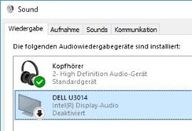 Ton über HDMI ausschalten