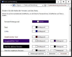 Windows 10 Schriftfarbe einstellen