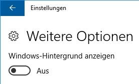 Windows 10 Hintergrund Schwarz