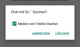 WhatsApp Chat löschen Bilder behalten: So gehts - Galaxy